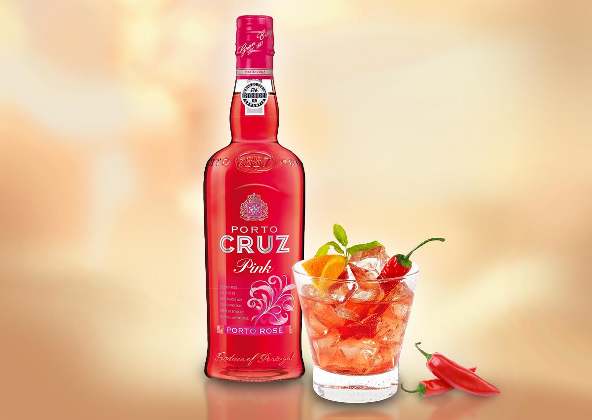 Para cocktails para saborear a dois, pense no Porto CRUZ Pink!