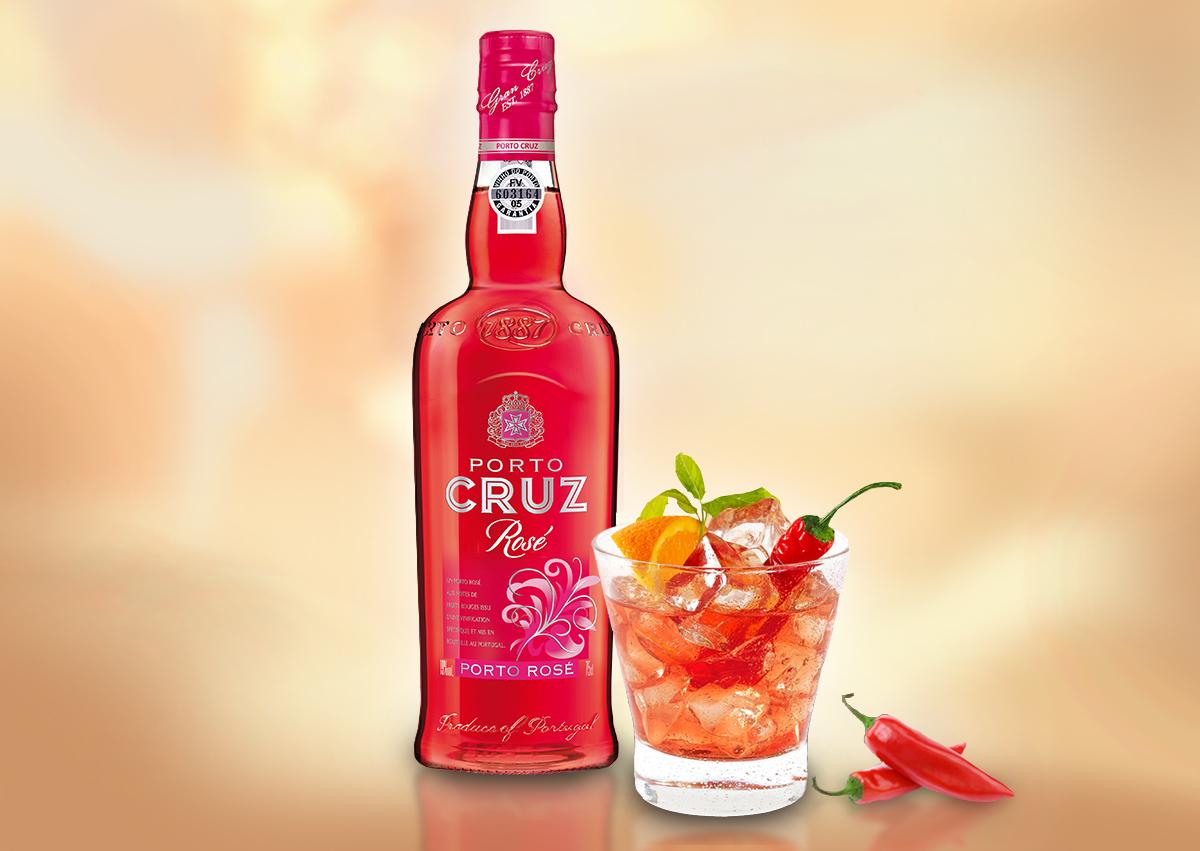 Pour des cocktails à savourer à deux, pensez au Porto CRUZ Rosé !